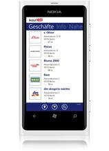 kostenlose Window Phone 7-App - kaufDA Navigator